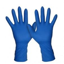 Перчатки  резиновые синие защитные  L