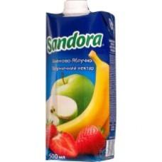 Sandora Нектар Яблоко/Банан/Клубника 0.5л