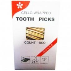 Зубочистки  в индивидуальной полиэтиленовой упаковке 1000 шт.