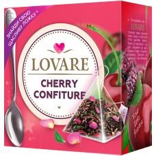 Чая Lovare Cherry Confiture с лепестками цветов и ароматом вишни и шелковицы 15 пир.