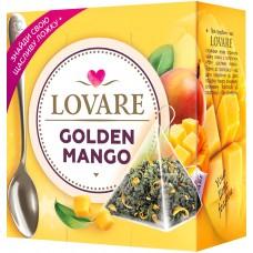 Чай Lovare Golden Mango с лепестками цветов и ароматом манго 15пир.